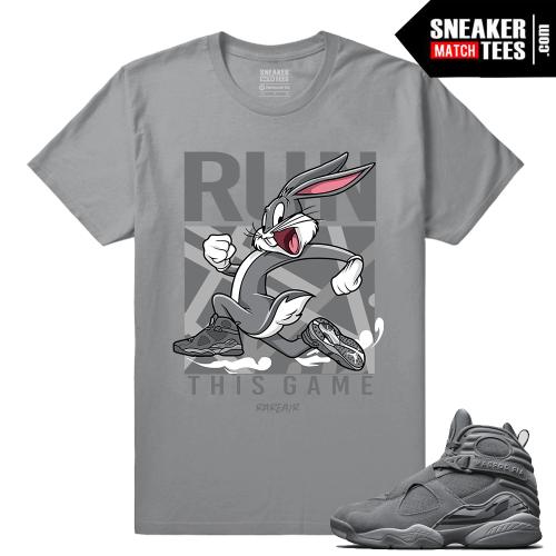 Jordan Retro 8 Cool Grey Matching Shirt
