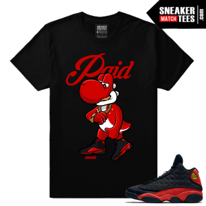 Jordans Bred 13s matching tee shirts