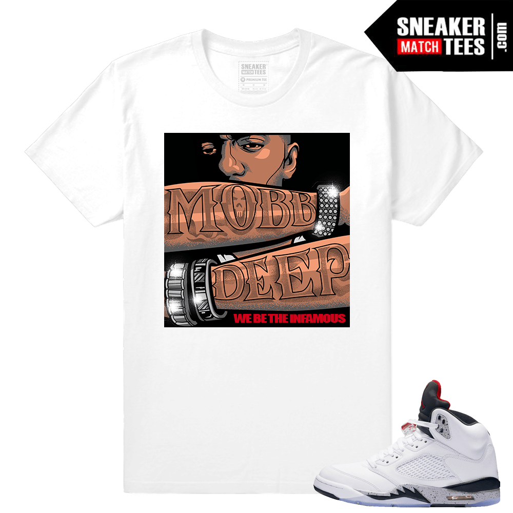 Retro 5 Cement T shirt