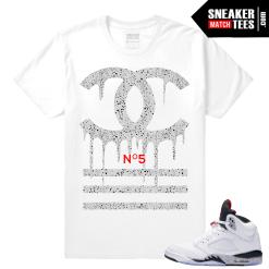 Retro 5 Cement tee shirt