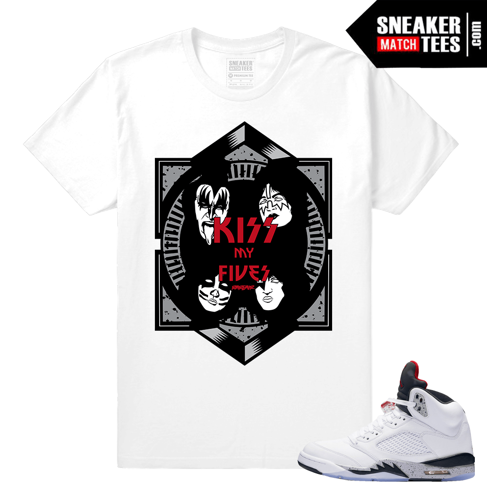 White Cement 5s tee shirt