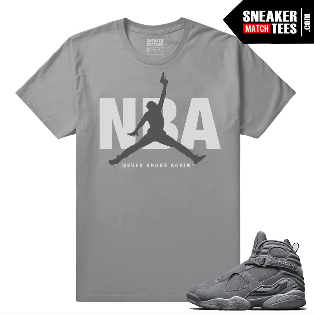 d419060bc84 Young Boy NBA Cool Grey Jordans T shirt - Jordan 8 Cool Grey