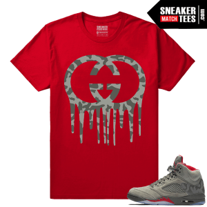 Air Jordan 5 Camo Shirts to match