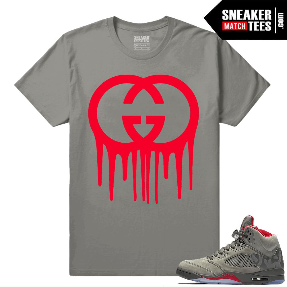 timeless design a2cf1 7760b Air Jordan 5 Camo Sneaker tees – Gucci Drip – Olive