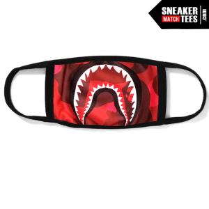 Bape Mask Shark Camo Red