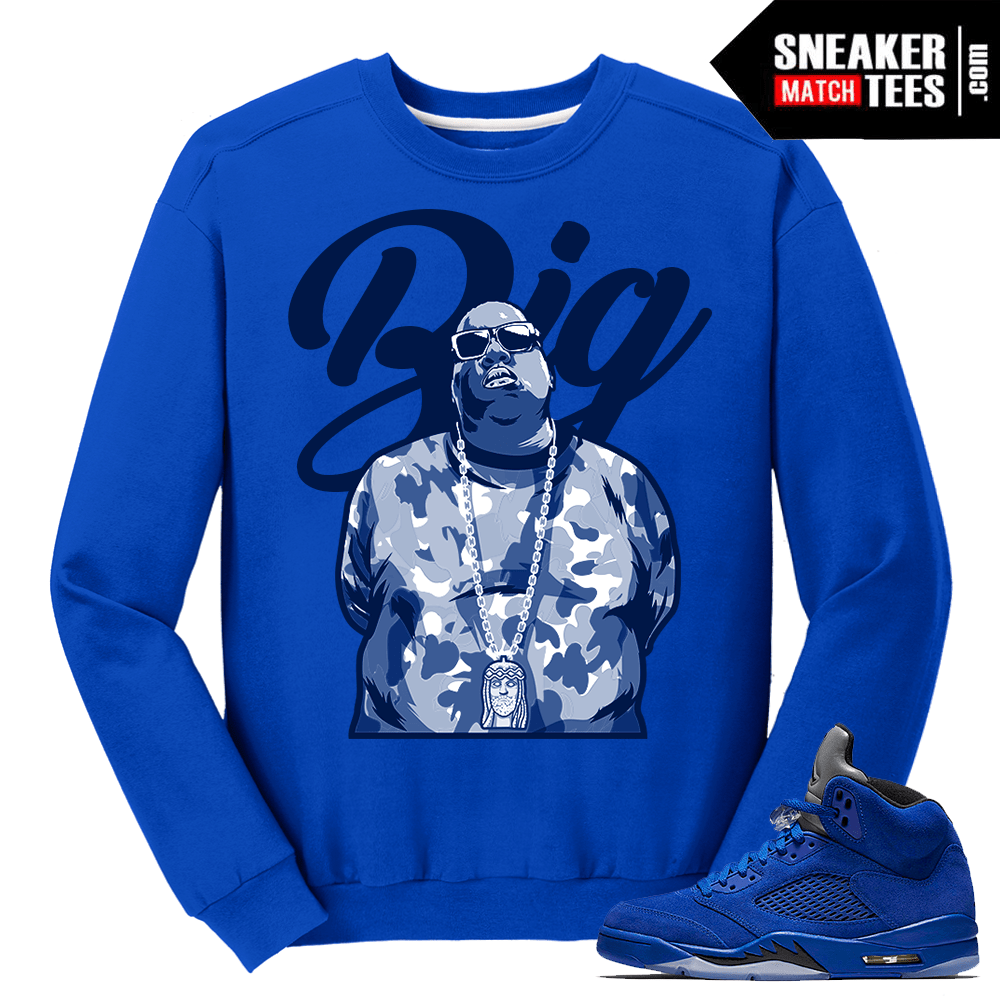 Biggie Jesus Piece Sweater Blue Suede 5s