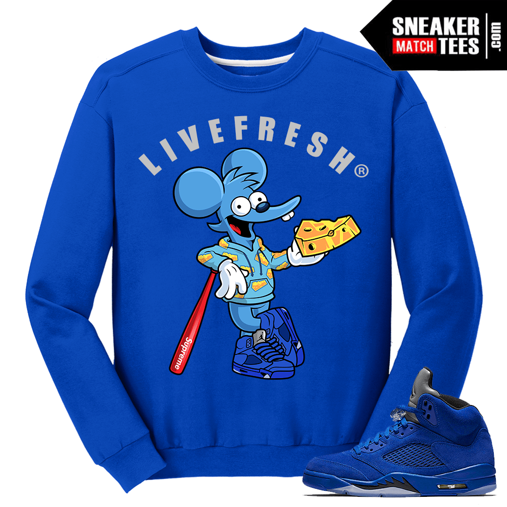 Blue Suede 5 Crewneck Sweater