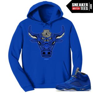 Blue Suede 5s Hoodie