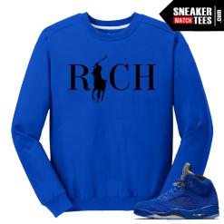 Blue Suede 5s Sneaker tees Crewneck