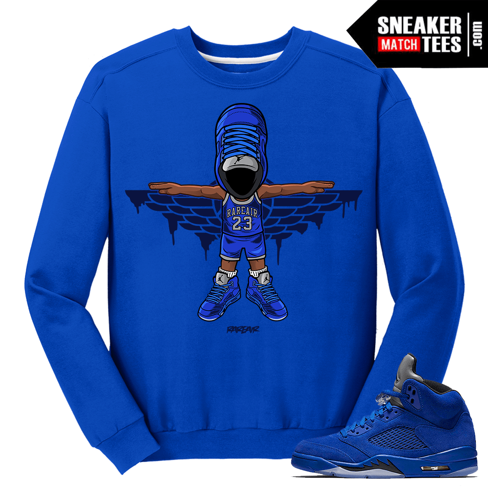Blue Suede 5s Sweater Crewneck