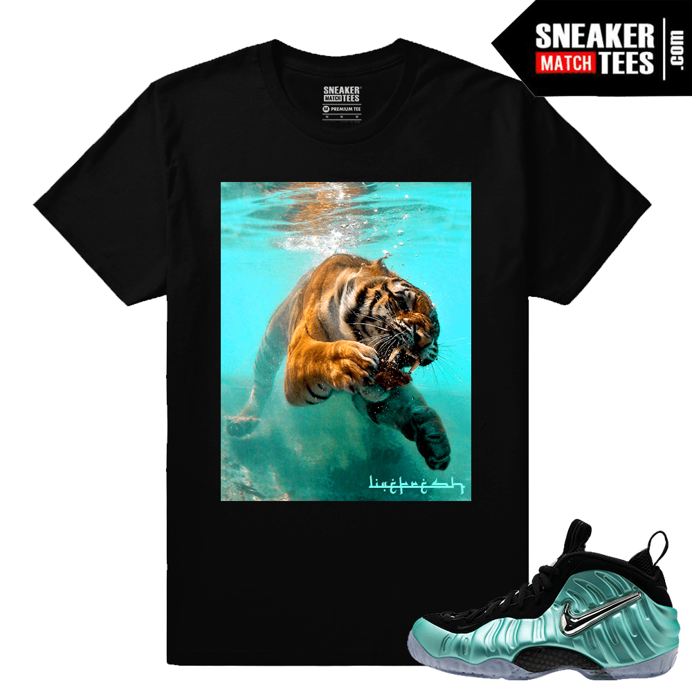 811dde5b714e8 Foamposites Island Green Sneaker tee to match. Island Green Foams
