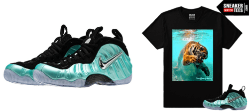 wholesale dealer cb8d8 a3cdb Shirts to Wear with Nike Foamposite Island Green sneakers