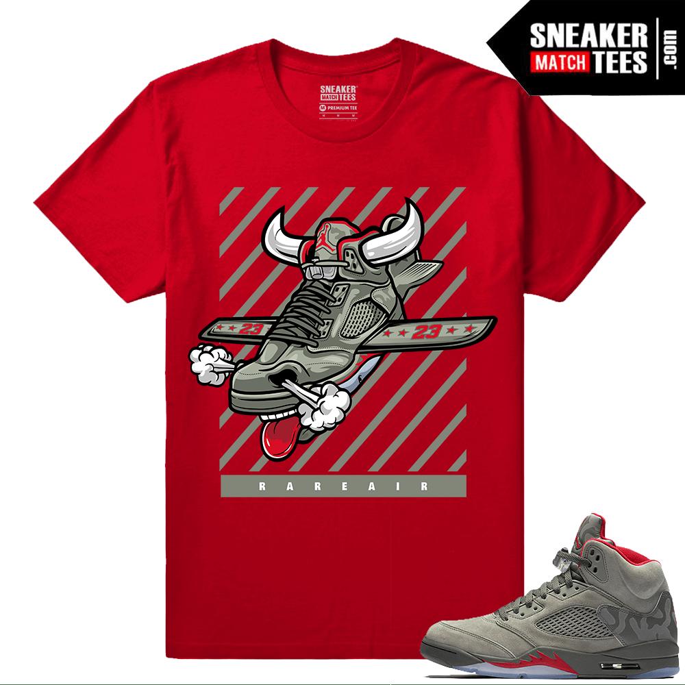 6171038564bf Jordan 5 Camo Fly Kicks T shirt - Air Jordan Retro 5