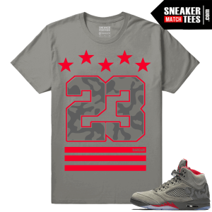 Jordan 5 Camo Sneaker Shirts to match
