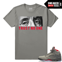 Jordan 5 Camo Trust No One T shirt
