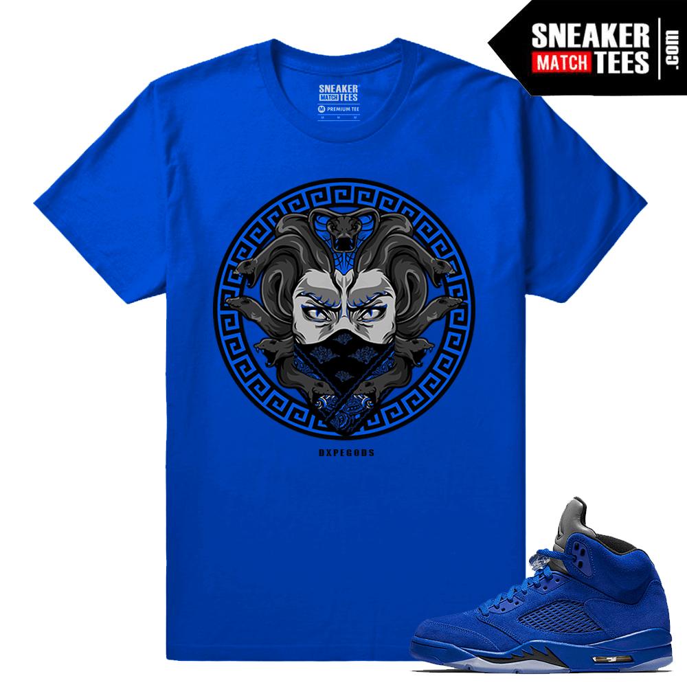 16e623d38768be Jordan 5 Blue Suede Sneakers Tees - Sneaker Match Tees ®
