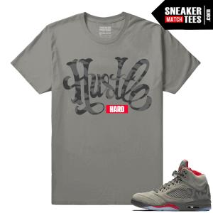 Jordan 5 Sneaker tees Camo shirts