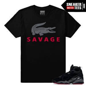 Jordan 8 Bred Sneaker Match Shirt