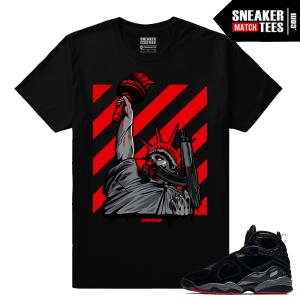Jordan 8 Cement Bred Sneaker Tees Match
