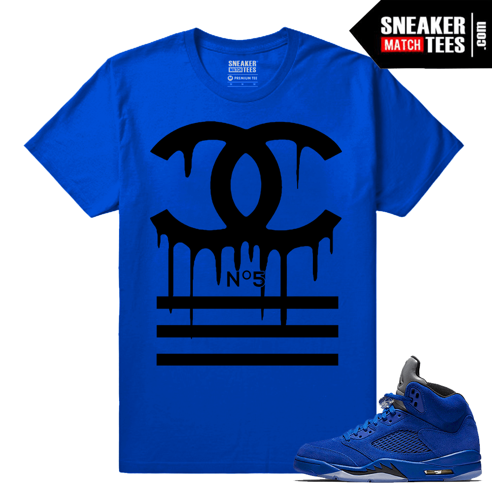 Jordan Retros Blue Suede 5 Shirts