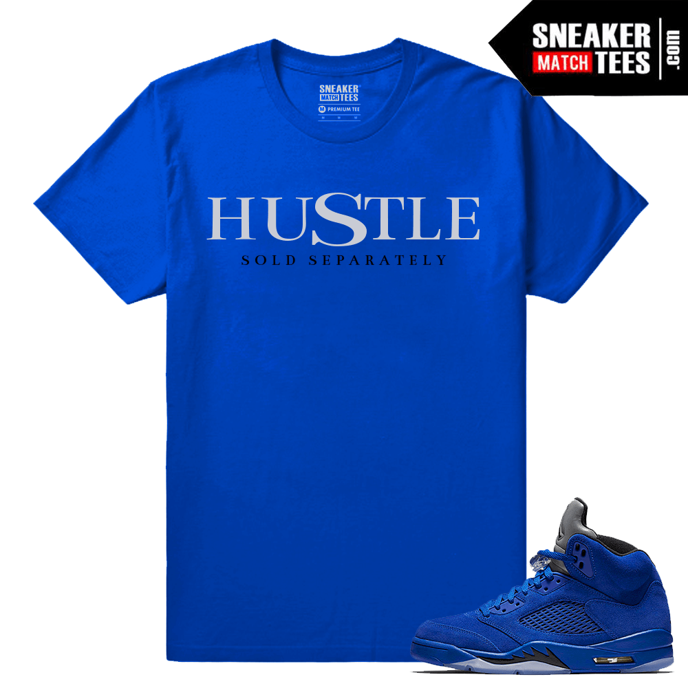 Jordan Retros matching Blue Suede 5 tees