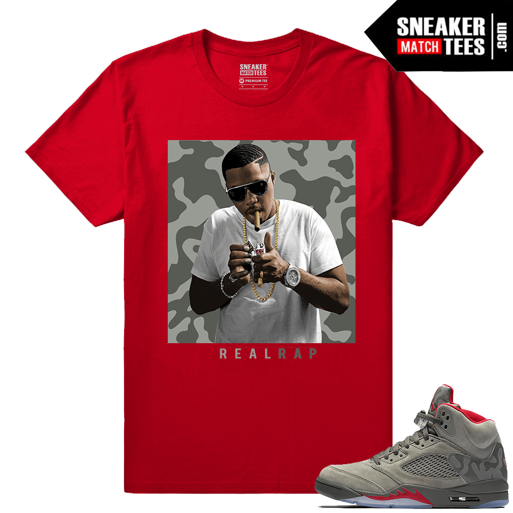5f4aad882741 Jordan 5 Camo Shirts to match - Sneakermatchtees.com