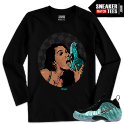Nike Foamposites Shirts matching Island Green Foams Long Sleeve