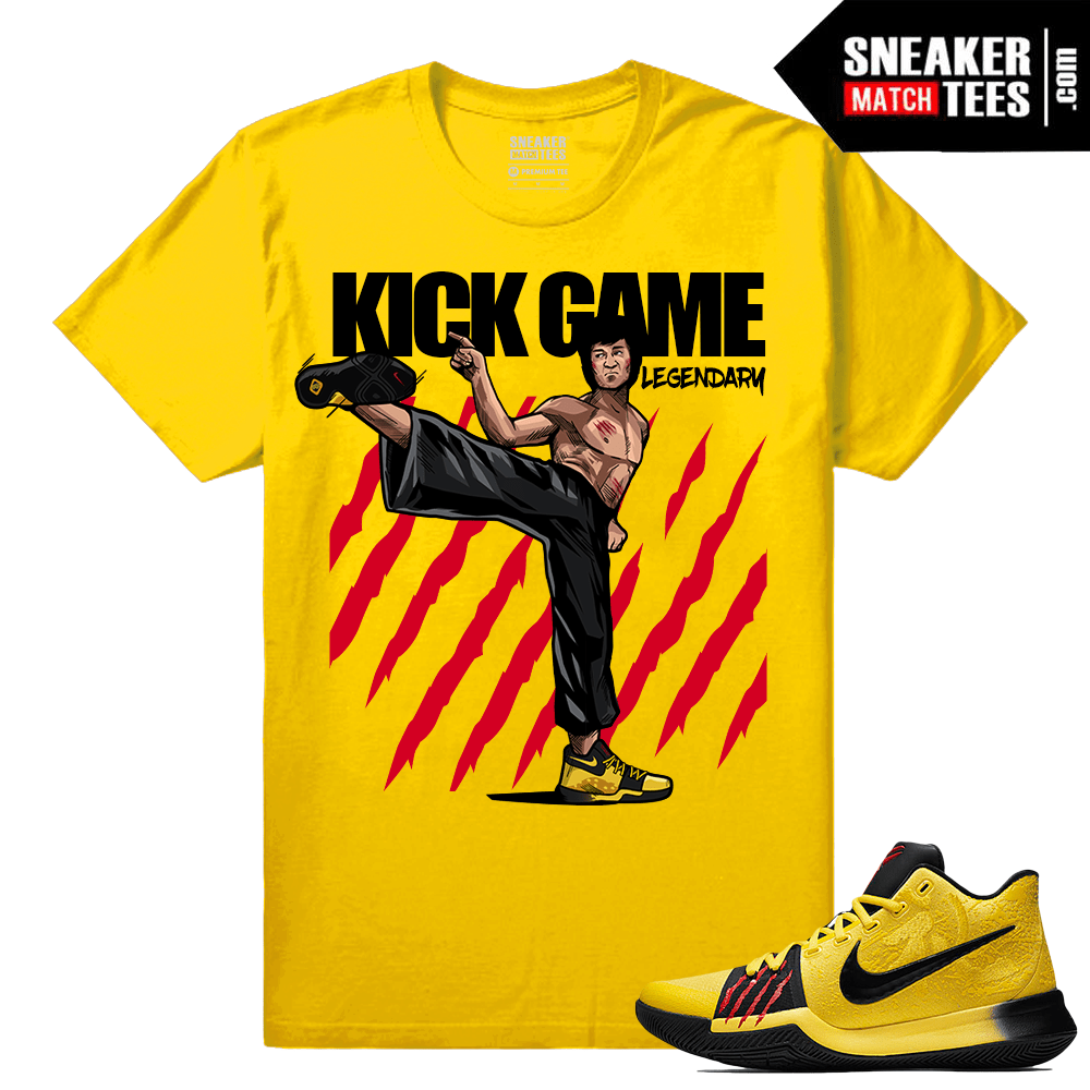 "Nike Kyrie 3 Sneaker Tee Shirts ""KIck Game Legendary"" – Yellow 75beac050"