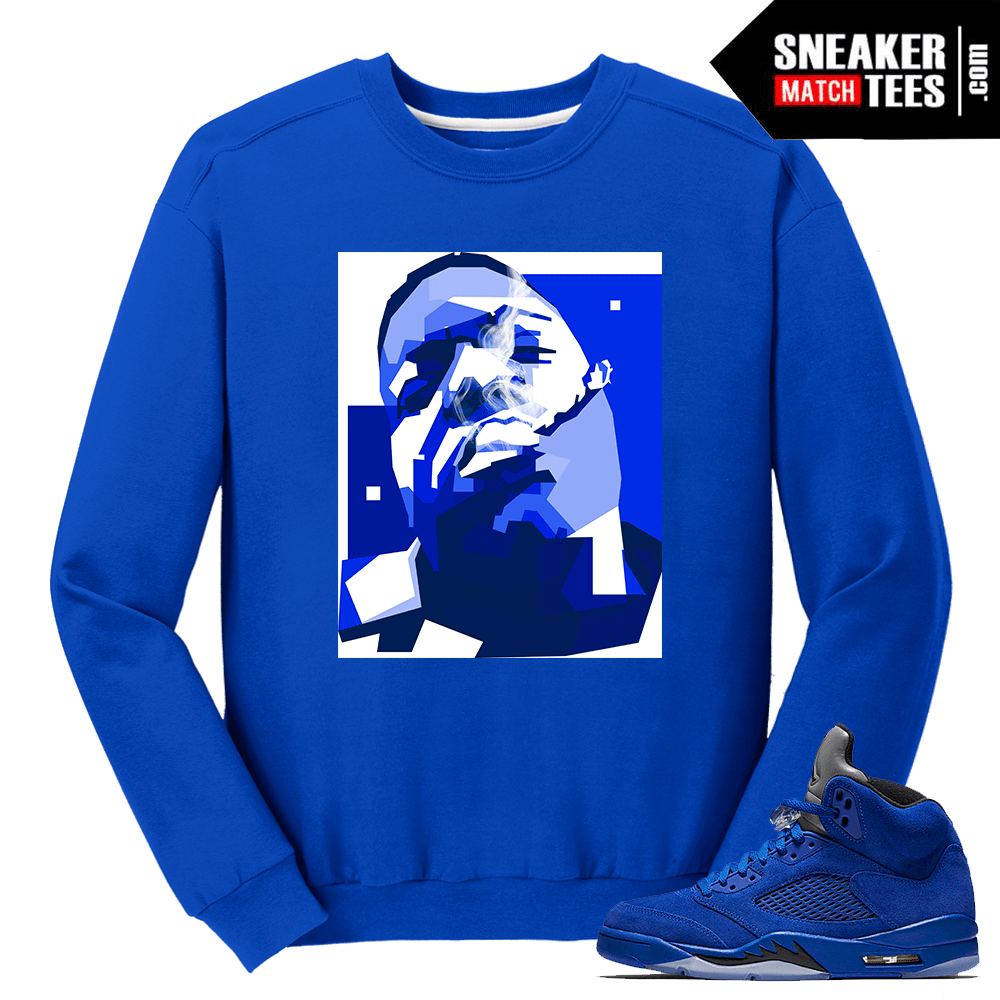 Notorious BIG Crewneck Blue Suede 5s