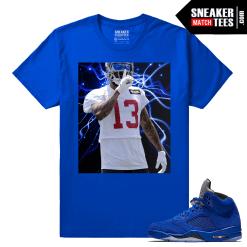 Odell Beckham Jr Silence Blue Suede 5 T shirt