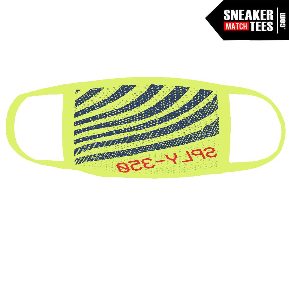 57caa9fe4 Semi Frozen Yellow Yeezy 350 Boost Mask - Sneaker Match Tees ®