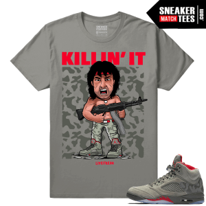 Shirt to Wear with Camo Jordans 5
