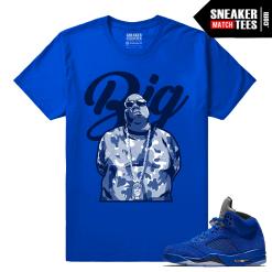 Shirts to match Jordan 5 Blue Suede