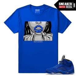 Sneaker tees Jordan 5 Blue Suede