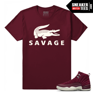 Air Jordan 12 Sneaker tees Bordeaux