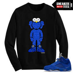 Blue Suede 5 Live Fresh Kaws Black Crewneck Sweater