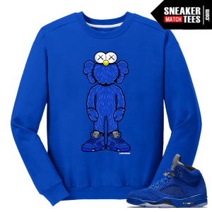 Blue Suede 5 Live Fresh Kaws Royal Crewneck Sweater