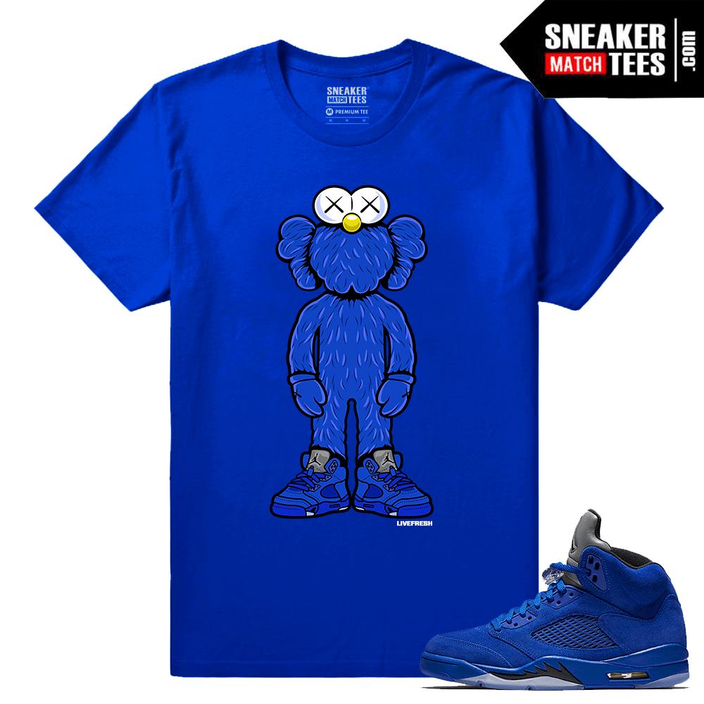 94ea93717e4036 Blue Suede 5 Live Fresh Kaws Royal T shirt - Sneaker Match Tees ®