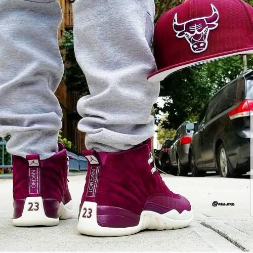 Bordeaux 12s on Feet