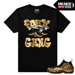 Gold Foamposites Foam Gang Black Sneaker tees