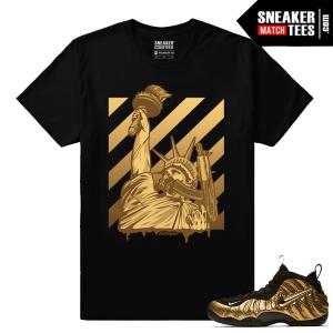 Gold Foamposites Liberty Guns Streetwear Black Sneaker tees