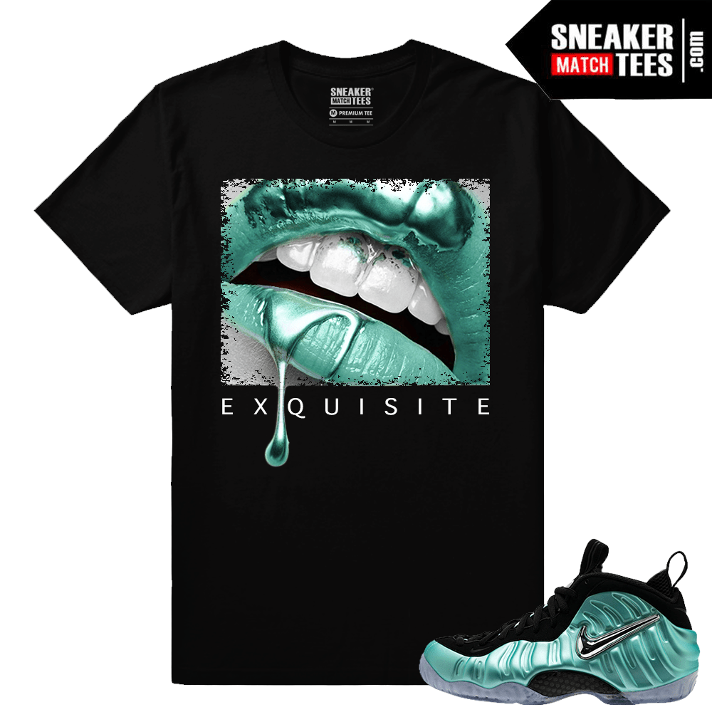 Island Green Foamposite Exquisite Lips Black T shirt