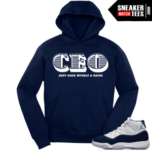Jordan 11 Win Like 82 Navy Hoodie CEO Raise