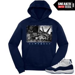 Jordan 11 Midnight Navy Hoodie Liberty Fallen