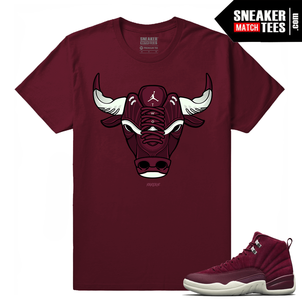 separation shoes 4d580 41c66 Jordan 12 Bordeaux Maroon T shirt