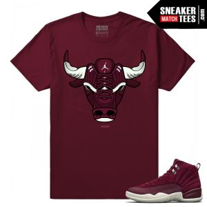 Jordan 12 Bordeaux Maroon T shirt