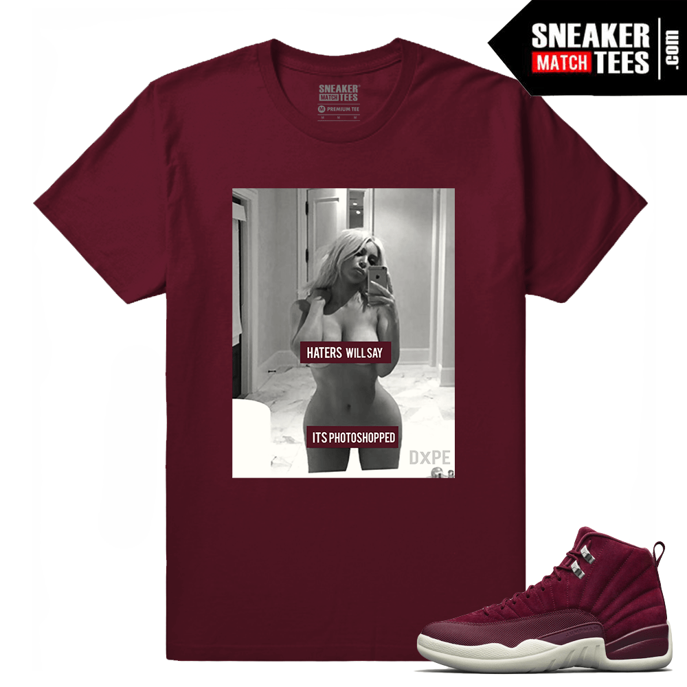42797eb710c0f5 Jordan 12 Bordeaux Sneaker Tees Outfit - Sneaker Match Tees ®