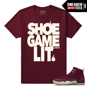 Jordan 12 Match Bordeaux Shirt