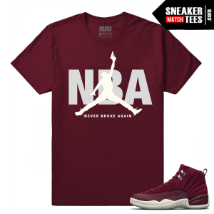 Jordan 12 Shirt match Bordeaux 12s