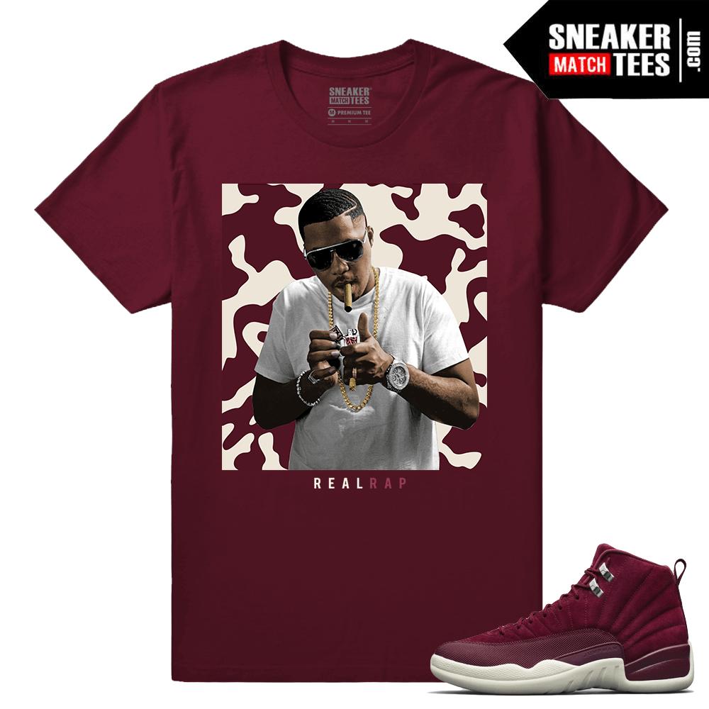 3bbad2ea70ef Air Jordan 12 Bordeaux - Sneaker Match Tees ®